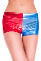 Two-Tone Metallic Booty Shorts