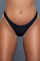 Ruched Brazilian Thong Bikini Bottom