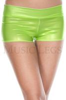 Pastel Shiny Banded Booty Shorts
