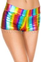 Metallic Rainbow Booty Shorts