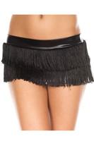 Fringed Mini Skirt