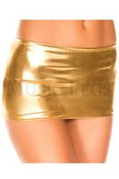 Shiny Metallic Mini Skirt