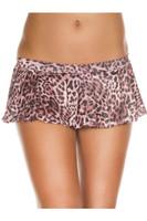 Pleated Leopard Mini Skirt