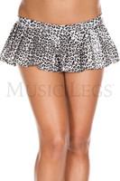Pleated Leopard Print Micro Mini Skirt