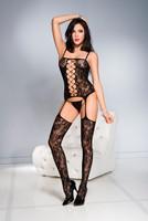Lace Criss-Cross Strappy Suspender Bodystocking