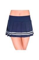 Pleated Double Stripe Mini Skirt