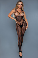 Strappy Cutout Footless Crotchless Bodystocking