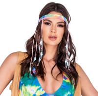 Tie-Dye Beaded Headband