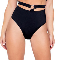 High Waisted Strappy O-Ring Shorts