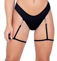 Gartered Clip-On Thong Back Shorts
