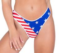 American Flag Bikini Shorts