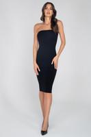 Bandeau Midi Length Bodycon Dress