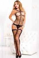 Strappy Shredded Cami-Garter & Stockings