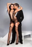 Multi-Net & Lace Sheer Cami-Garter & Stockings