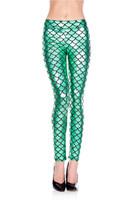 Metallic Mermaid Tail Leggings