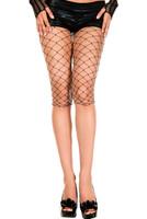 Diamond Net Spandex Biker Shorts