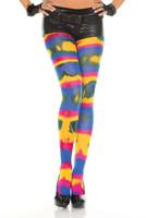 Rainbow Tie Dye Spandex Pantyhose