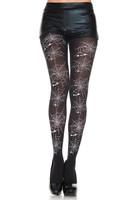 Spiderweb Print Pantyhose