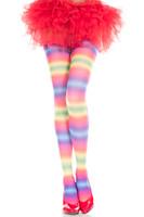 Rainbow Striped Pantyhose