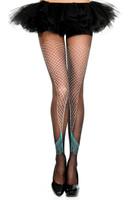 Mermaid Tail Print Sheer Pantyhose