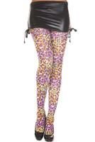 Rainbow Cheetah Print Pantyhose