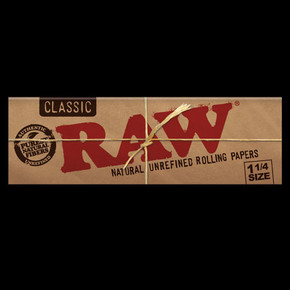 RAW ROLLING PAPERS | 1 1/4 SIZE | 24 PACK