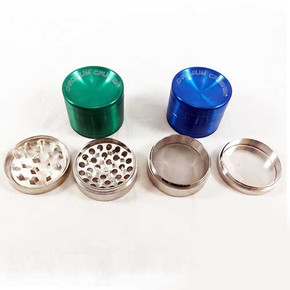 "CHROMIUM CRUSHER VORTEX TOBACCO GRINDER | 4 PART | 2.2"" [170101CC]"