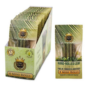 KING PALM MINI SIZE 4 PACK PRE-ROLL | 24 CT DISPLAY