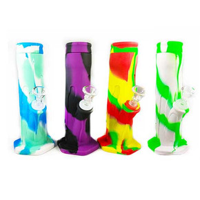 """SILICONE WATER PIPE W/ ICE CORE MOLD & GLASS BOWL 