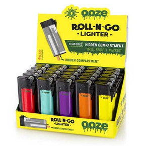 OOZE ROLL-N-GO LIGHTER DISPLAY | PACK OF 25