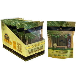 KING PALM | 25PACK SLIM ROLLS + BOVEDA | 8 COUNT DISPLAY