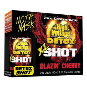 HIGH VOLTAGE | DETOX XL SHOT COMBO WITH 2OX CONCENTRATE & 12 CAPSULES