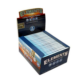 ELEMENTS | ULTRA THIN RICE ROLLING PAPERS | KING SIZE | 50 PACK DISPLAY