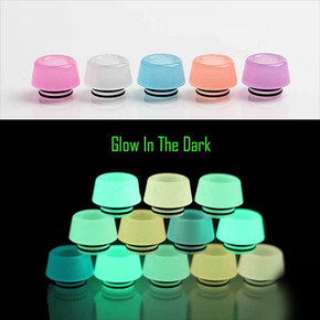 RESIN LUMINOUS DRIP TIPS | 810 SIZE | TFV8/TFV12(PRINCE)/BIG BABY/X-BABY/RESA PRINCE | ASSORTED COLORS | PACK OF 10 [1AV-D051L]