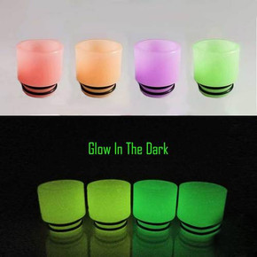 RESIN LUMINOUS DRIP TIPS | 810 SIZE | TFV8/TFV12(PRINCE)/BIG BABY/X-BABY/RESA PRINCE | ASSORTED COLORS | PACK OF 10 [1AV-D052L]
