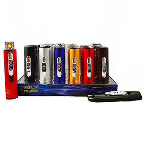 BOLT USB RECHARGEABLE COIL LIGHTER | ASSORTED COLORS | DISPLAY OF 24[161521]