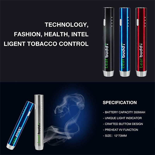 LEAF BUDDI F1 VARIABLE VOLTAGE 510 PASSTHROUGH BATTERY WITH CHARGING CABLE  | 350MAH