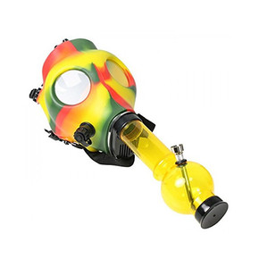 RASTA GAS MASK WITH ACRYLIC PIPE SET | ASSORTED COLORS [1GM-RASTA]