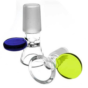 GLASS BOWL WITH ROUND HANDLE | 5PACK | ASSORTED COLORS [1GBW-019]