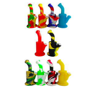 """SILICONE TWO PIECE WATER CAN PIPE WITH GLASS BOWL 