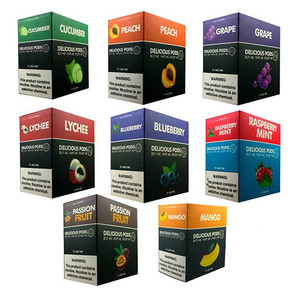 DELICIOUS PODS | PRE-FILLED NICOTINE SALT PODS | COMPATIBLE | 1ML | DISPLAY OF 8