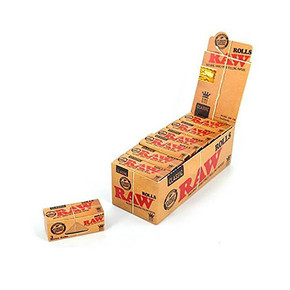 RAW ROLLING PAPERS | KING SIZE | 3 METER ROLLS | DISPLAY OF 12