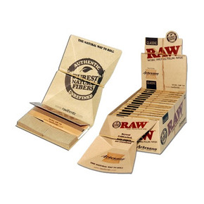 RAW ROLLING PAPERS | ARTESANO TRAY PAPERS | KING SIZE SLIM | DISPLAY OF 15