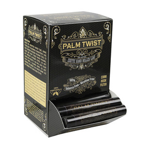 PALM TWIST | 100% NATURAL HAND ROLLED LEAF WRAPS | DISPLAY OF 50 TUBES