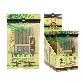 KING PALM | MINI SIZE | 5 PACK PRE-ROLL WITH BOVEDA | 15 COUNT DISPLAY