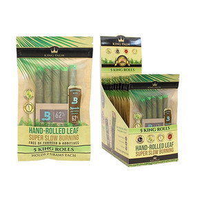 KING PALM | KING SIZE | 5 PACK PRE-ROLL WITH BOVEDA | 15 COUNT DISPLAY