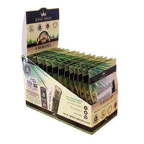KING PALM | 5 PACK ROLLIES WITH BOVEDA | 15 COUNT DISPLAY