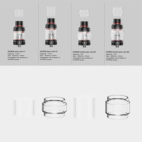 VOOPOO | UFORCE REPLACEMENT GLASS | PACK OF 3 | 5ML BUBBLE GLASS