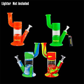 WAXMAID ROBO SILICONE & GLASS WATER PIPE | ASSORTED COLORS