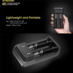 NITECORE UI2 PORTABLE USB BATTERY CHARGER | DUAL SLOT